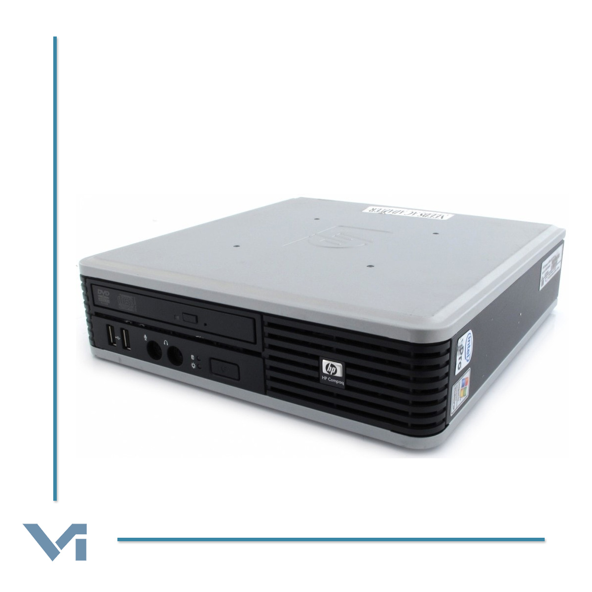 PC HP COMPAQ DC7800 GC762AV Mini PC - Intel Core 2 Duo E6550 2GB 160GB DVD/RW Windows 7 Professional -NOCOLOR- Ricondizionato