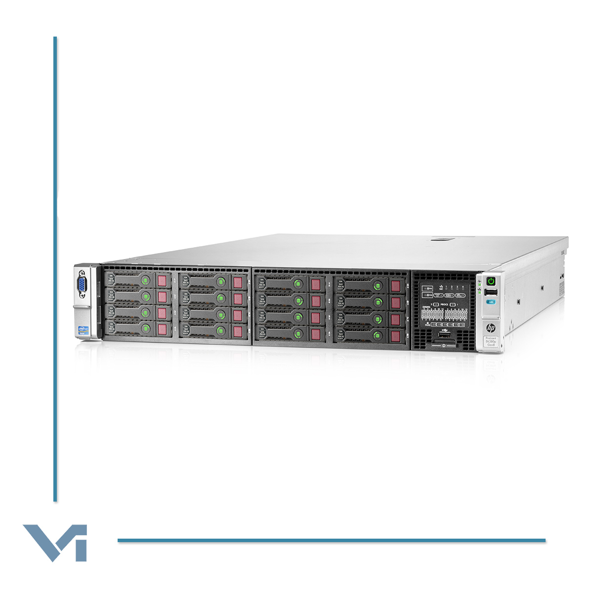"Server HP PROLIANT DL380 G8 662257-421 - 2 x Intel Xeon E5-2690 384GB Ram 16 x 900 GB SAS 2.5"" 2 x Alim. 2 x Controller P420I -NOCOLOR- Ricondizionato"